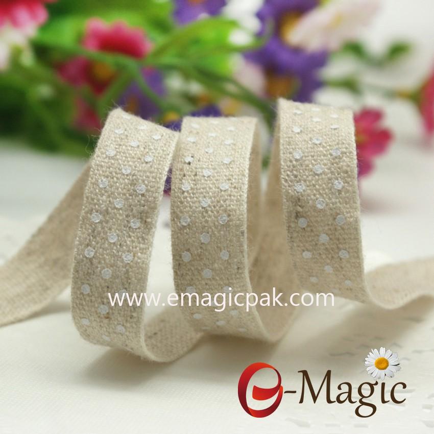 Personalized cotton ribbon printed