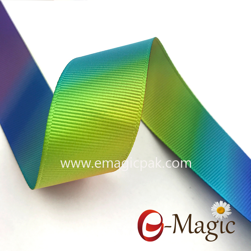 High Quality Ribbon 1 Inch Heat Transfer printed grosgrain ribbon