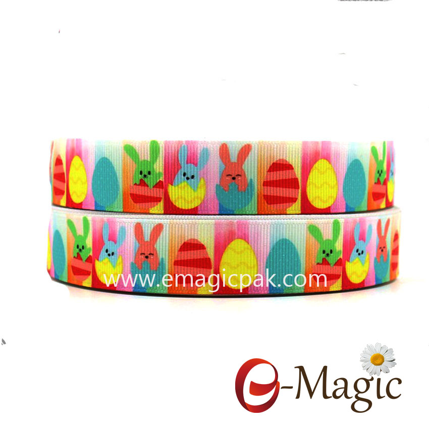 Easter-03 fashion happy easter customized printed grosgrain ribbon