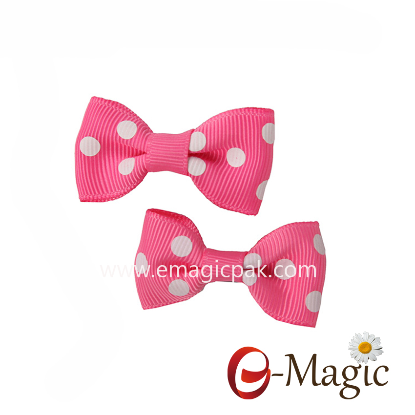 HB-014 Wholesale Hair Assessories Cute Baby Girl Bows Ribbon Hair Clips