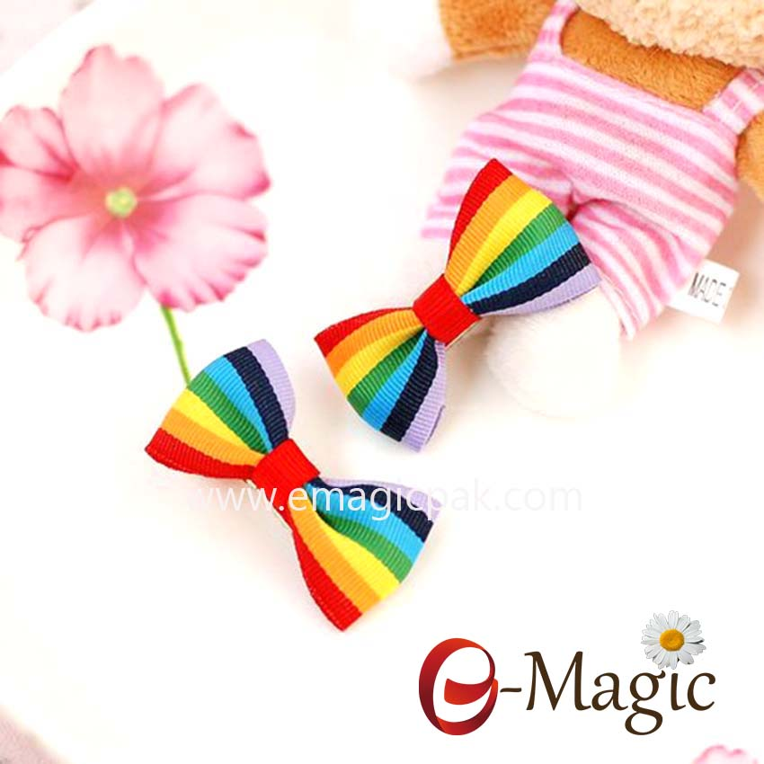 HB-016 hair accessories decorative kids ribbon bow hair clip