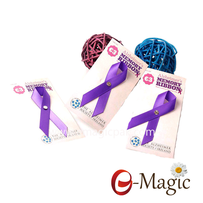AIDS-01  China wholesale custom Aids bow, satin Aids ribbon, satin ribbon bow