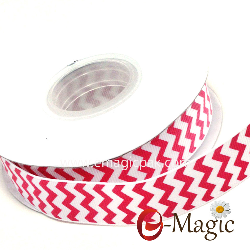 Strip-03 strip print grosgrain ribbon
