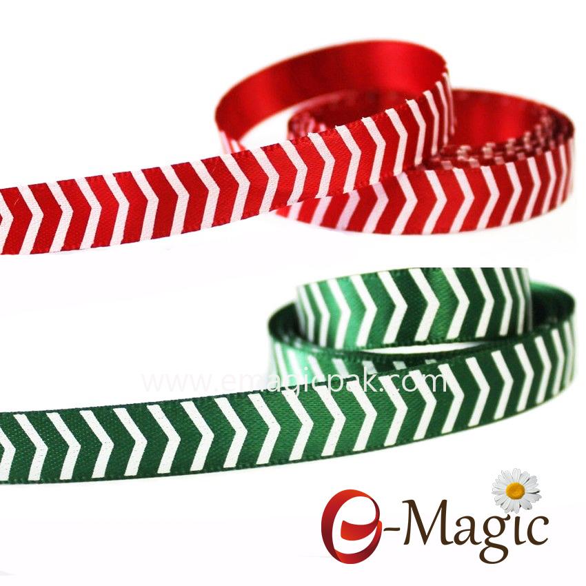 Strip-01 Striped Polyester Satin Ribbon