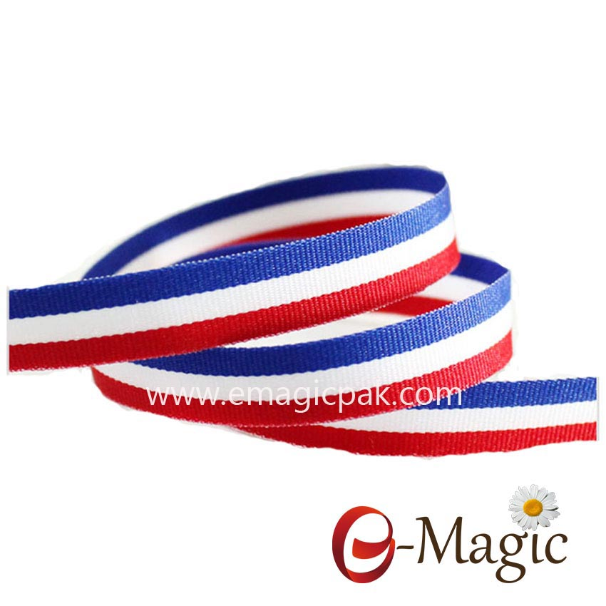 SPR-016 High-quality-polyester-red-white-blue-striped