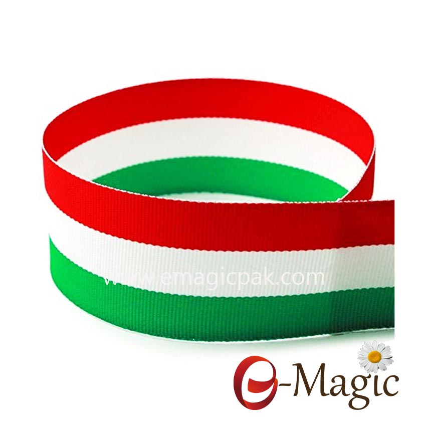 SPR-038 Wholesale custom wide polyester rainbow stripe ribbon