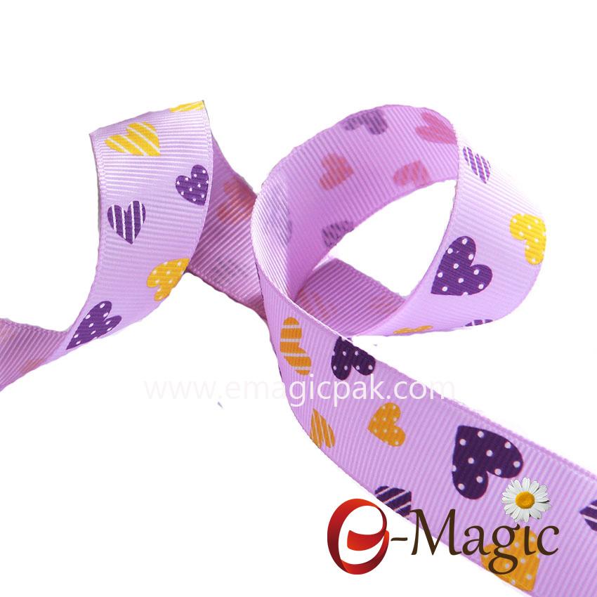 Valentines-14  Wholesale heart design print ribbon