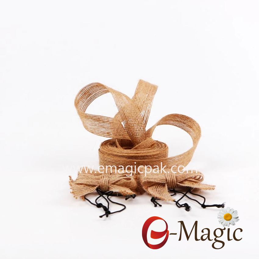 BR-02 burlap ribbon for gift ware with customized design
