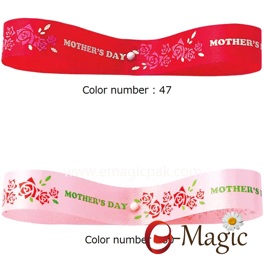 Mothers-02 Printed rosa ribbon for Mothers Day