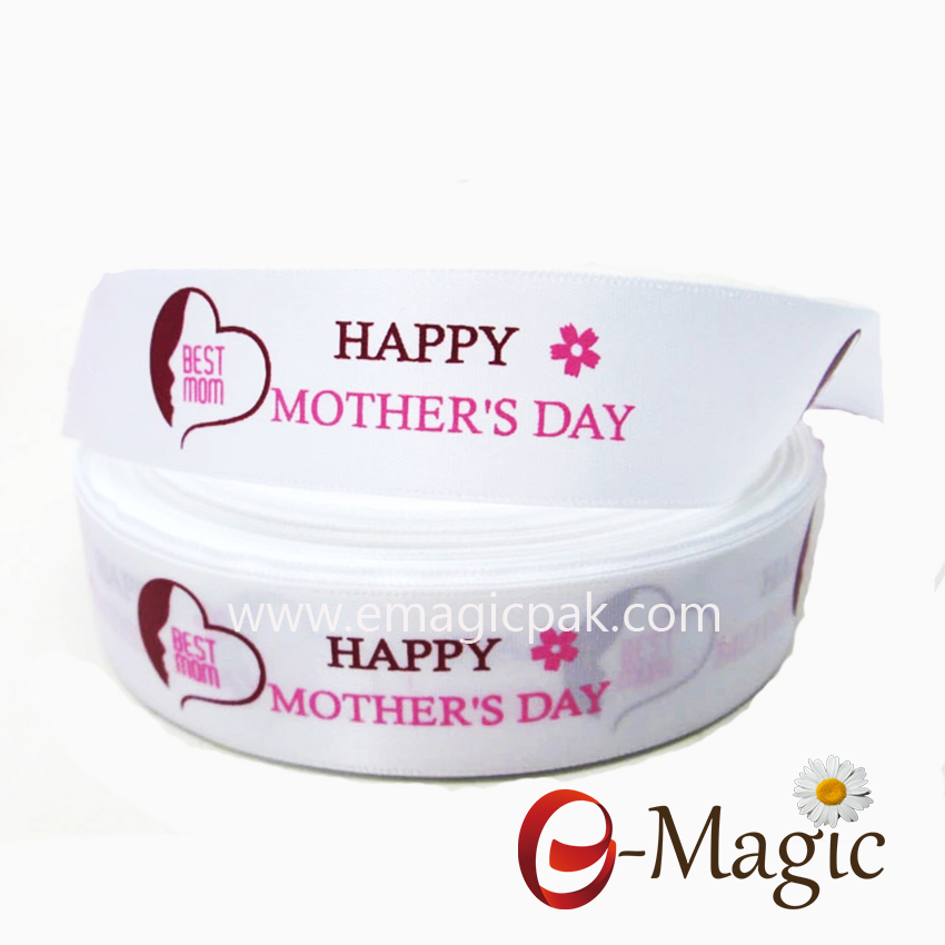 Mothers-01 Custom printed mothers day ribbon