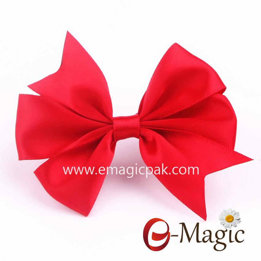 RB-043 Red Ribbon Bow with selfadhesive