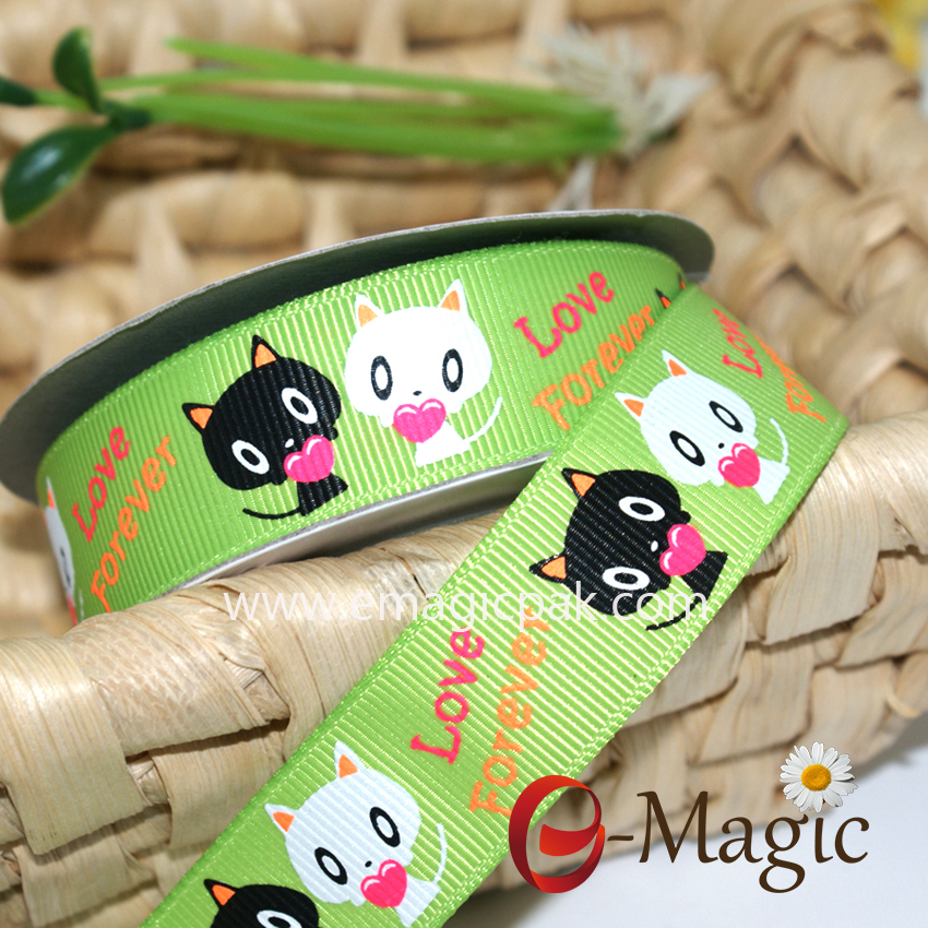 Animal-05 bulk cheap lovely animal printed ribbon