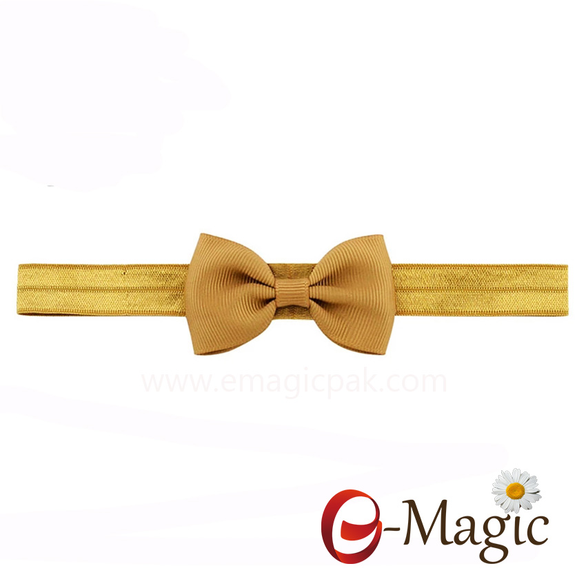 HB-022 High quality big ribbon bow baby hairband