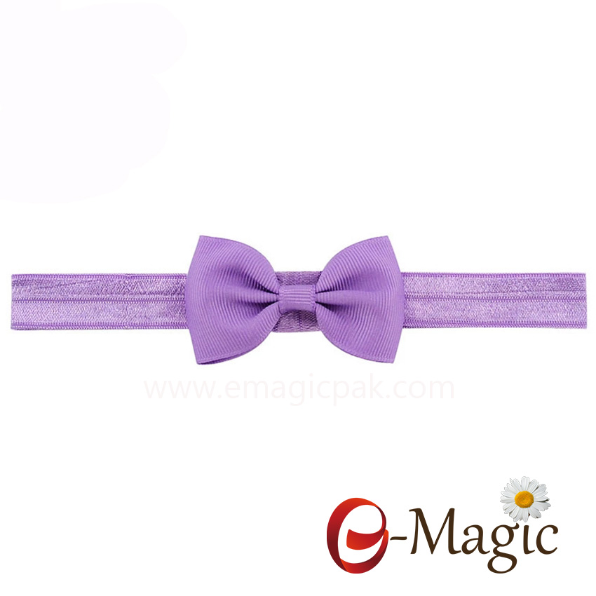 HB-021 Elastic Soft Hairband with Boutique Ribbon Bow