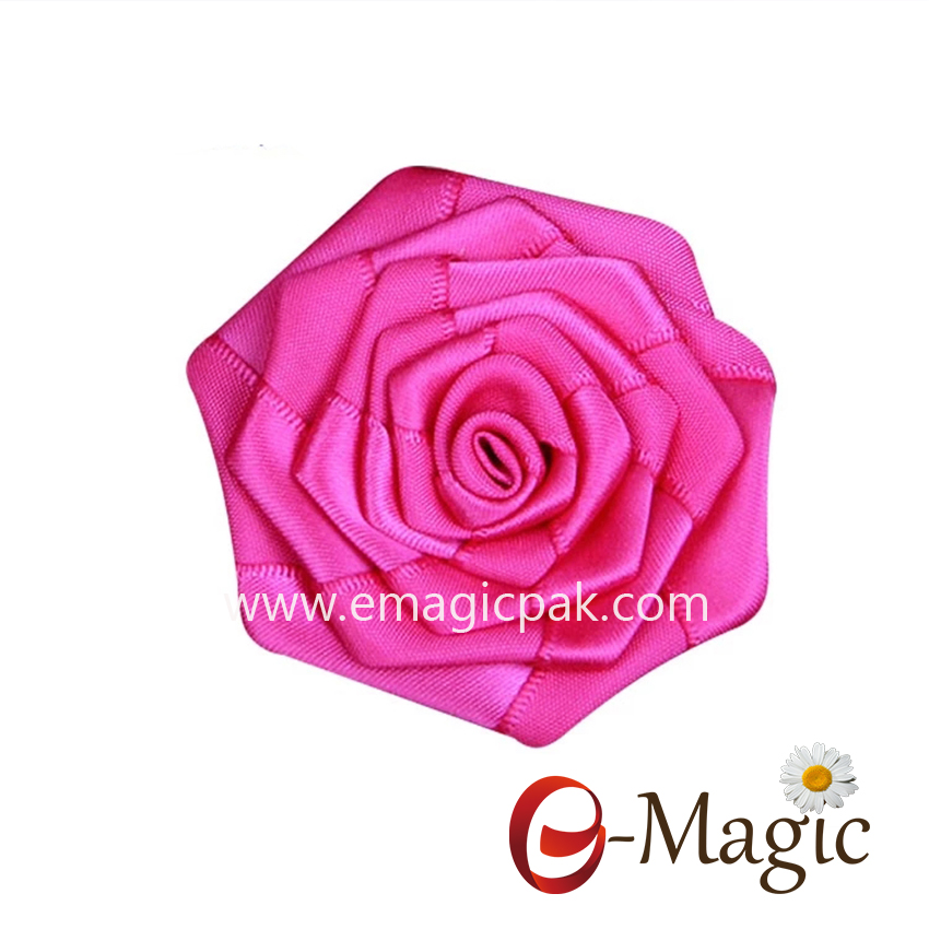 MRB-015 Direct factory seller promotion wholesale cheap hand made ribbon rose