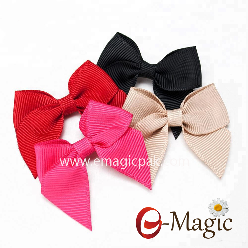 RB-046 Cheap Grosgrain Fabric decorative ribbon bow for craft