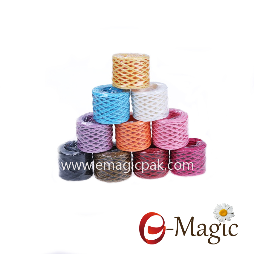 2mm Colorful Twisted Paper Raffia Ribbons