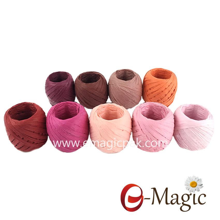 Factory Bulk Natural Paper Raffia Ribbon Rope bundle