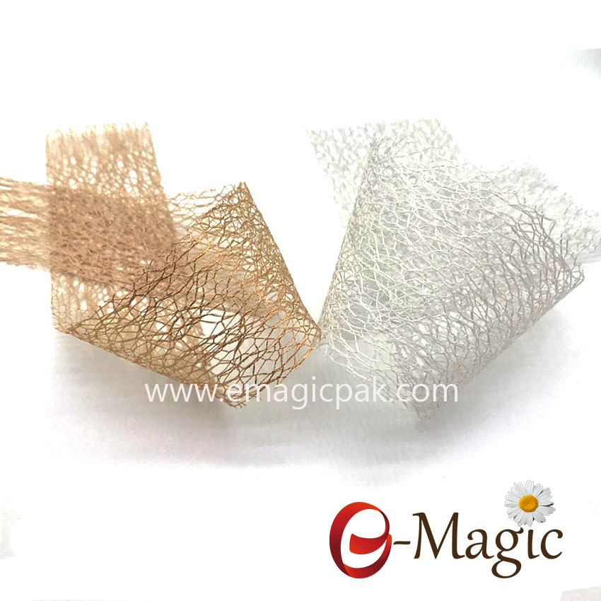 SMR012 -025 Good quality cut  edge Mesh Ribbon