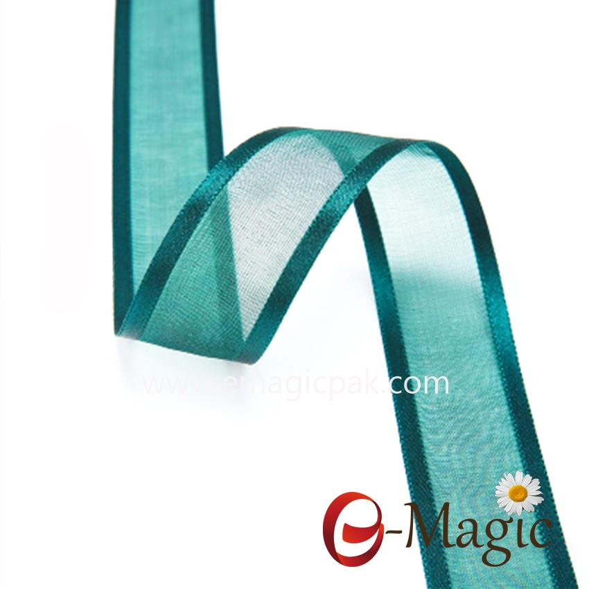OR3-025 Wholesale-Soild-Color-Sheer-Silk-Organza-Ribbon