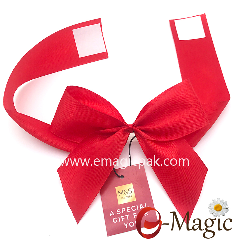 PB-072 Self adhesive taffeta ribbon bow for gift box