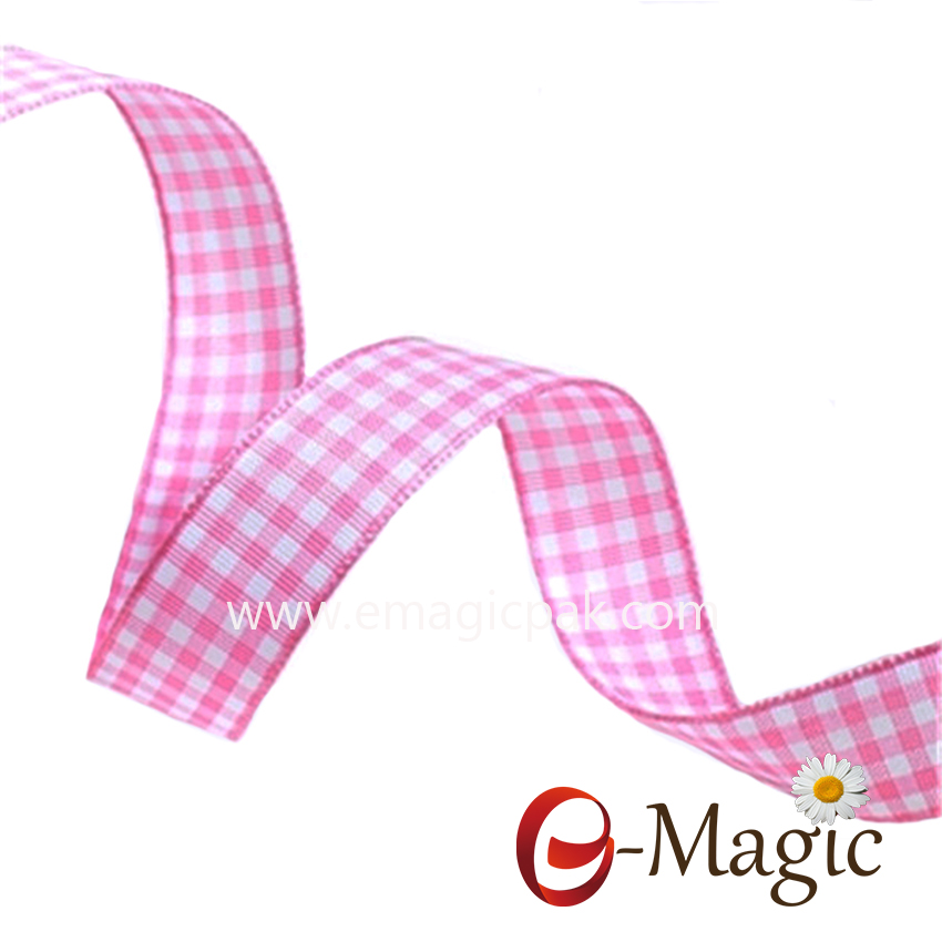 PR-016 New Fashion Colorful Gift Packaging Decoration Plaid Ribbon