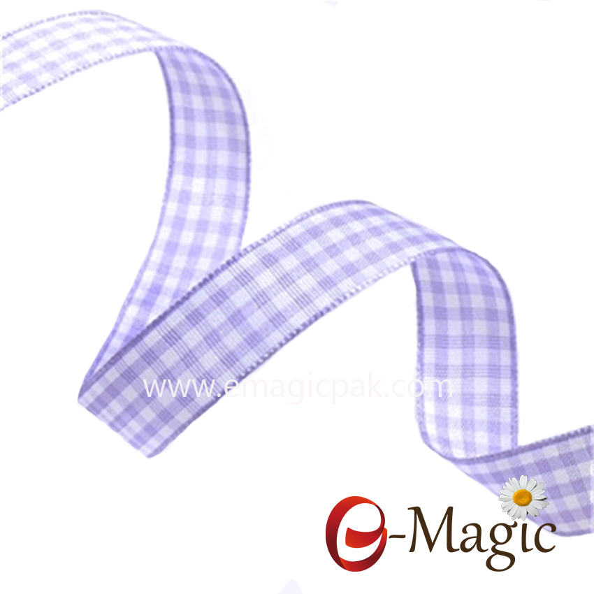PR-016 Factory Stocked Wholesale Competitive Price Plaid Ribbon