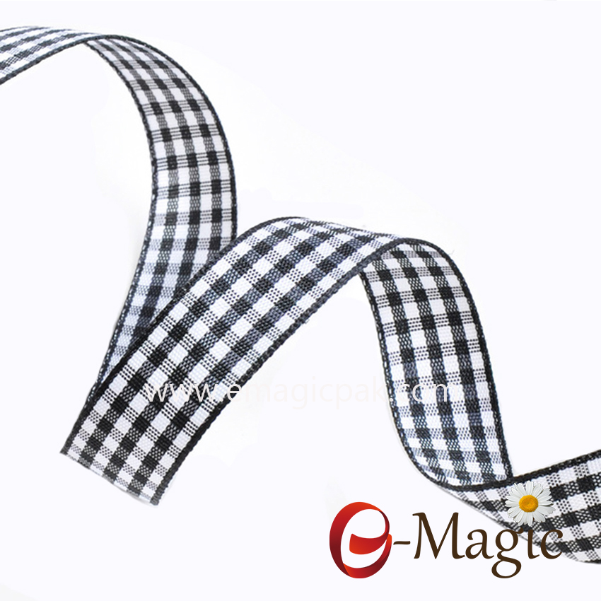 PR-016 Wholesale High Quality Plaid Ribbon