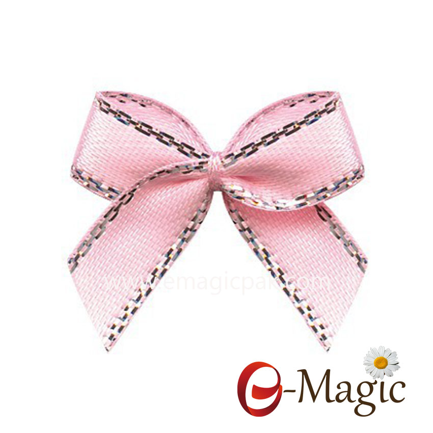 MRB-026 Colorful solid satin packing pre tie bows for gift