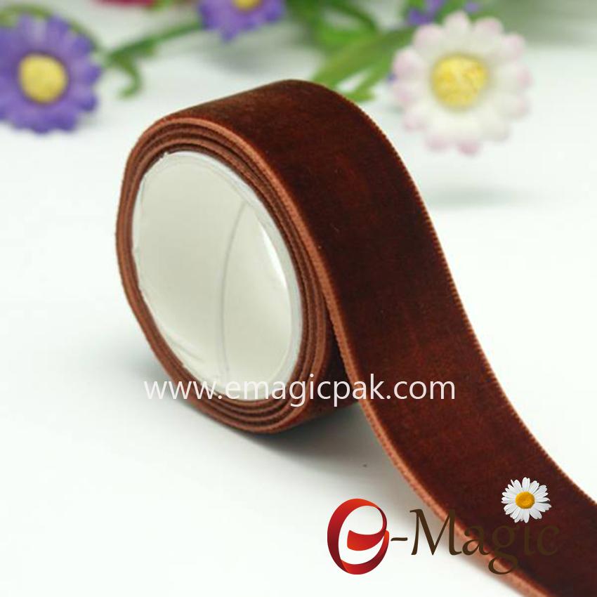 VR10000-038 100% nylon High Quality Stretch Velvet Ribbon