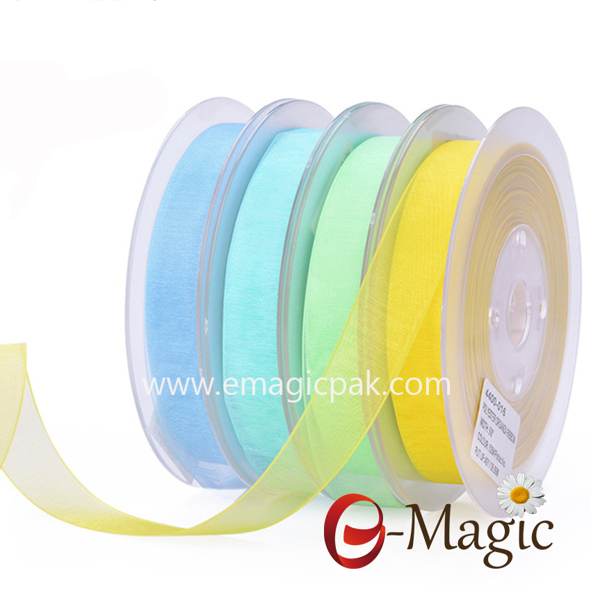 OR1-016 Wholesale Polyester Sheer Organza Ribbon