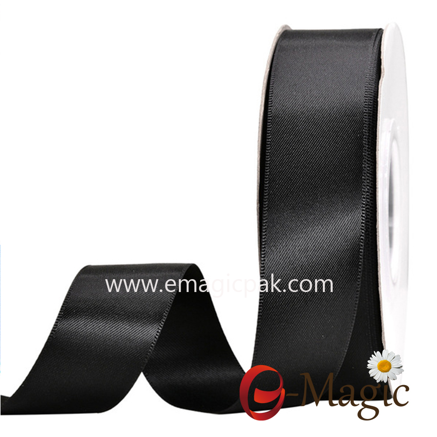 SR2-025 Wholesale Custom Solid Color 1 Inch 100% Polyester Double Face Satin Ribbon