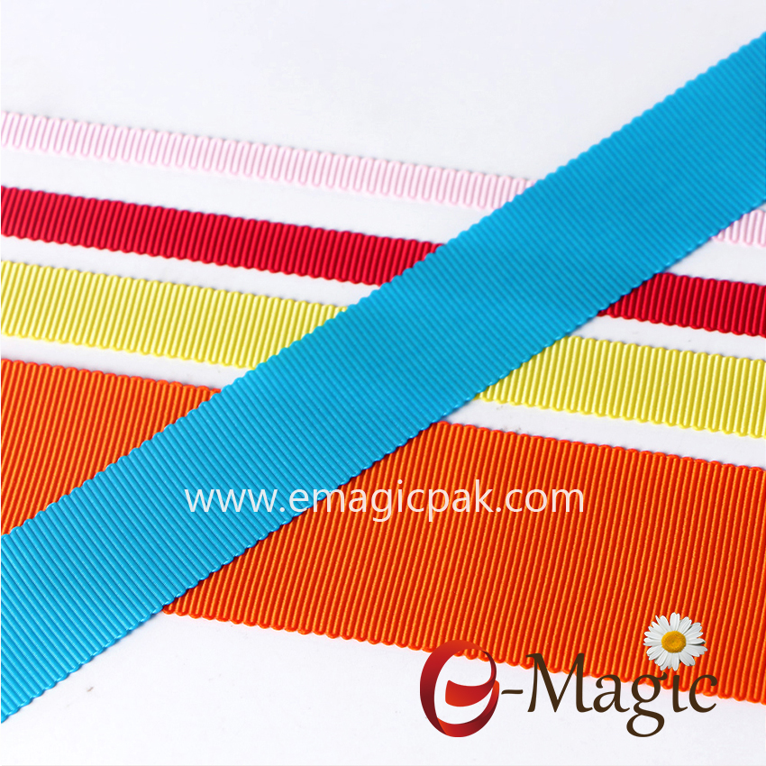 PSR-025 High Grade Colorful 100 Polyester Millinery Petersham Ribbon for Sale