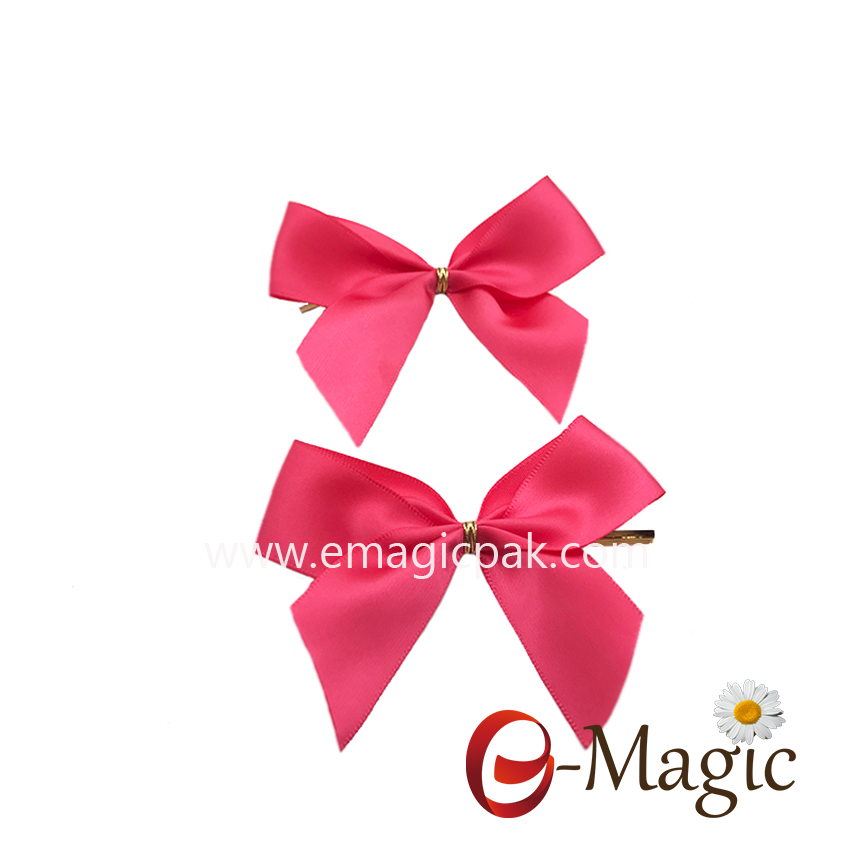 RB-049  25MM width single face ribbon made with 1 wire twist tie ribbon bow for candy pp bag packaging