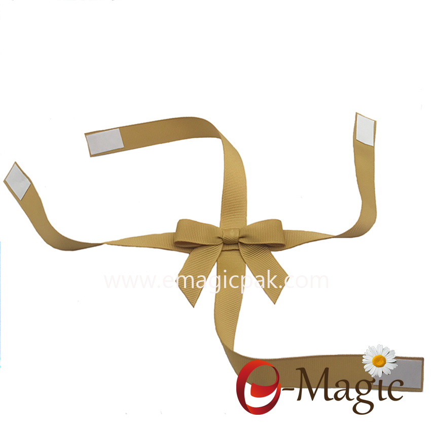 PB-078   16MM grosgrain ribbon cross packing bow for chocolate box decoration