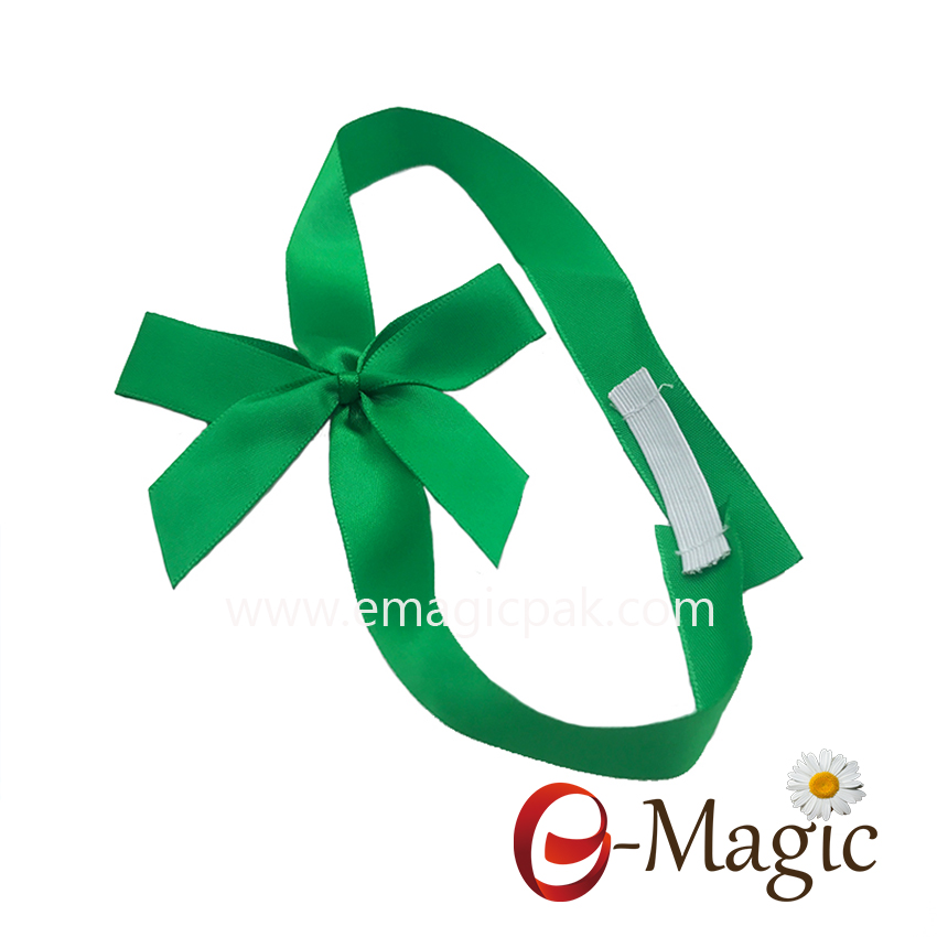 PB-074 Top quality the ribbon gift pack bows with custom band