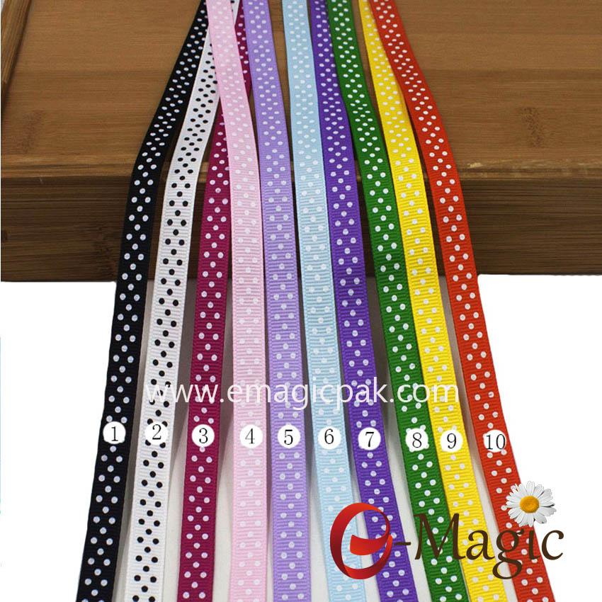 Dots-018 grosgrain ribbon with printing polka dot