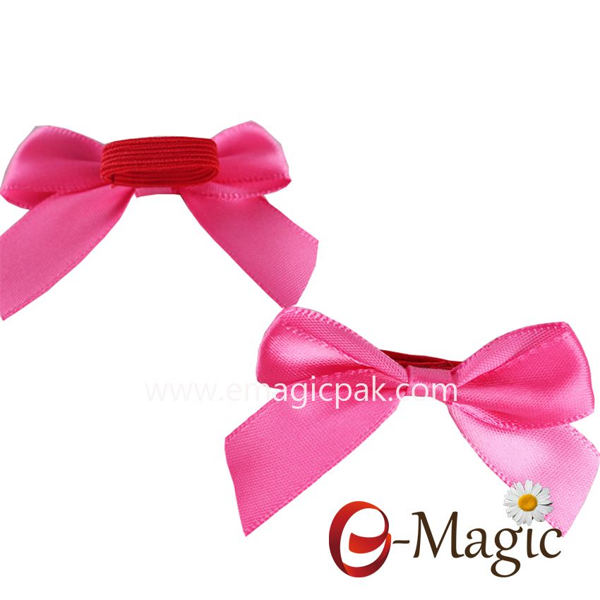 RB055  5/8 inch satin ribbon bow for perfume bottle ribbon bow with elastic loop