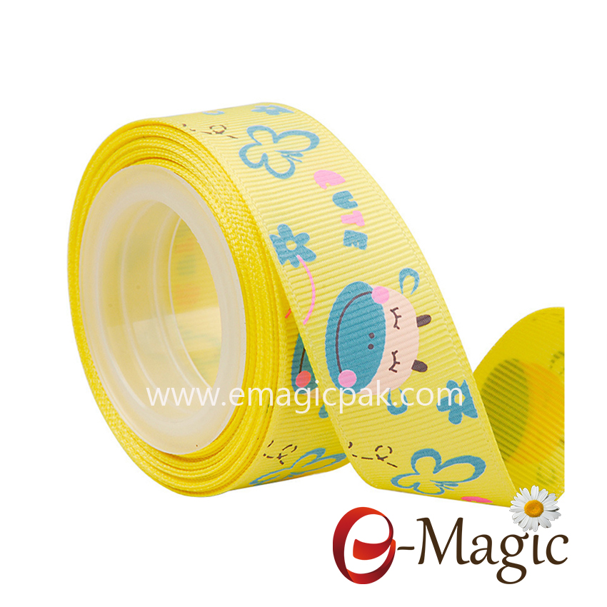 Baby-04   wholesale grosgrain ribbon with ink print cute design
