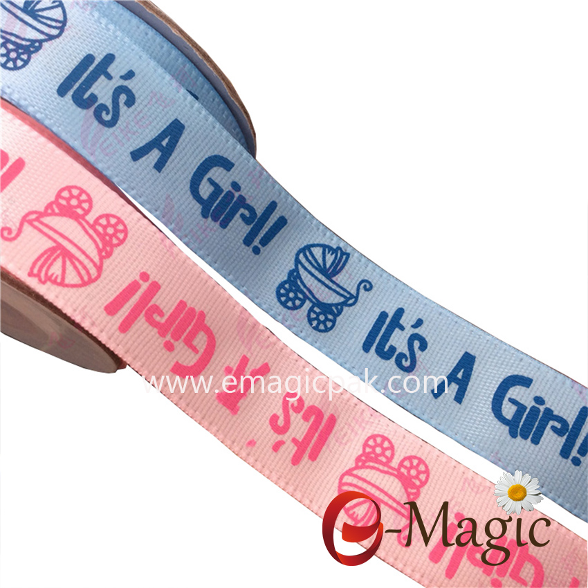 PB-025 custom personalized screen printed ribbons with logo