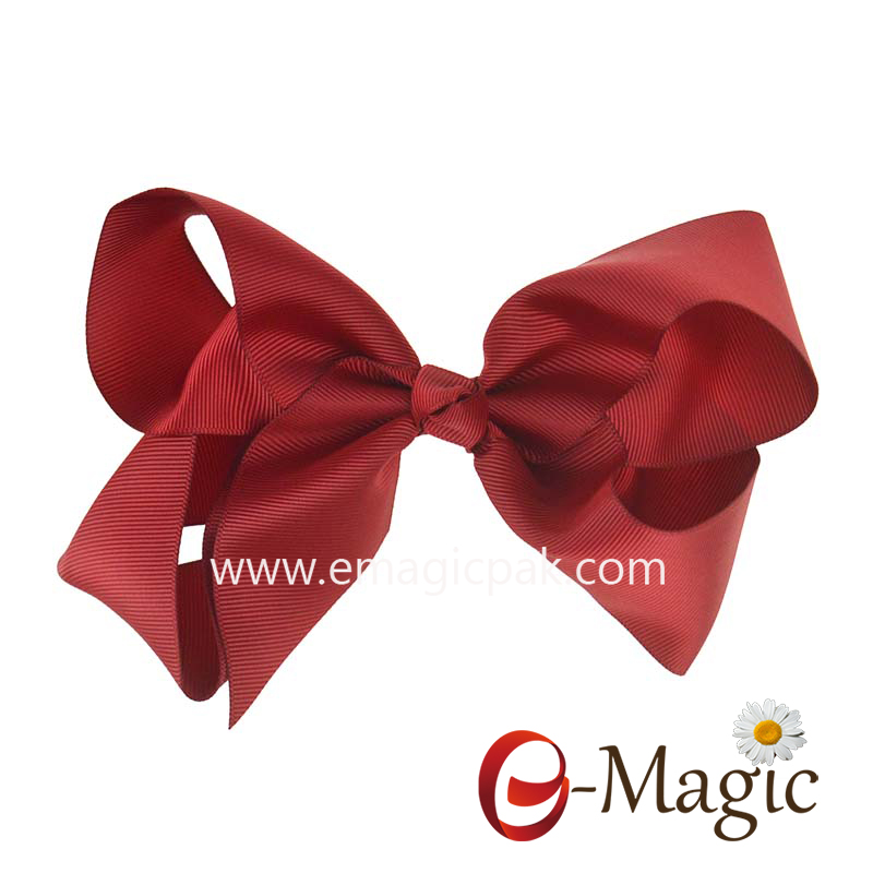 HB-038 custom Grosgrain Boutique hair clip Hair Bows Girls Bowknot Hairpin