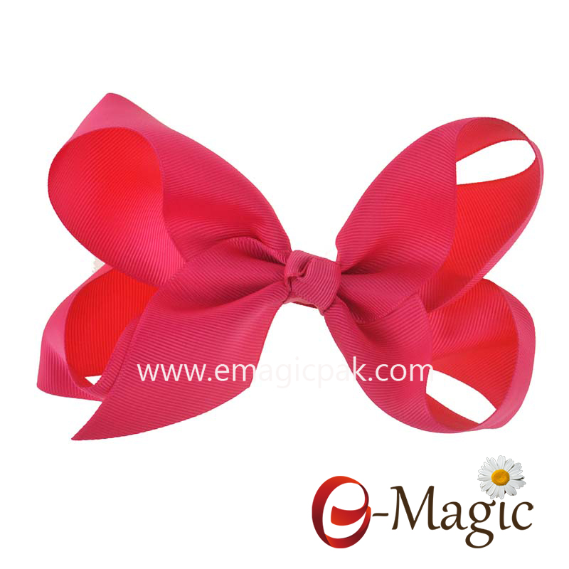 HB-035 Best quality kids big ribbon christmas hair bows with clip