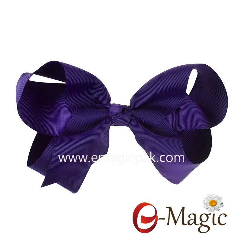 HB-034 Grosgrain Ribbon Boutique Girls Baby Hair Bows Clips Grosgrain Hair Bows With Alligator Hair Clip Accessories