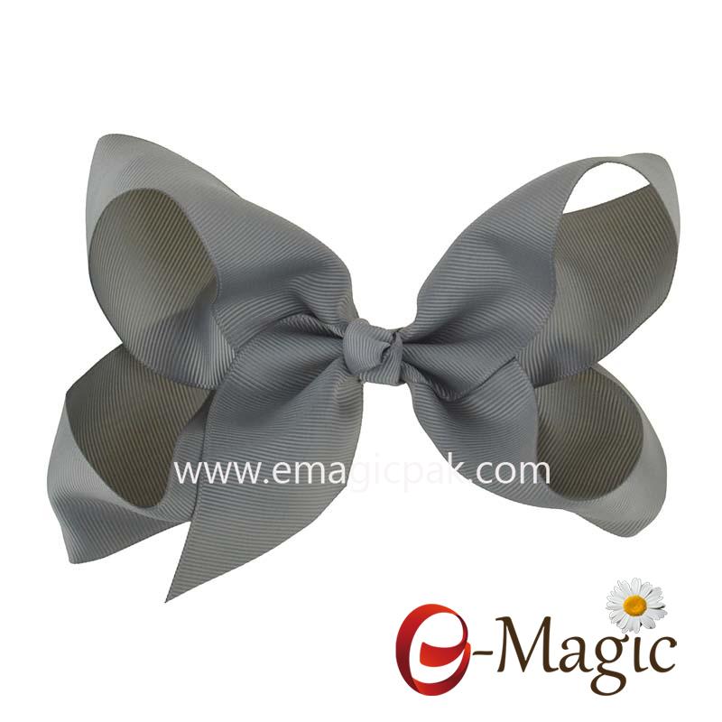 HB-033 China factory custom hair bow polyester baby ribbon bow