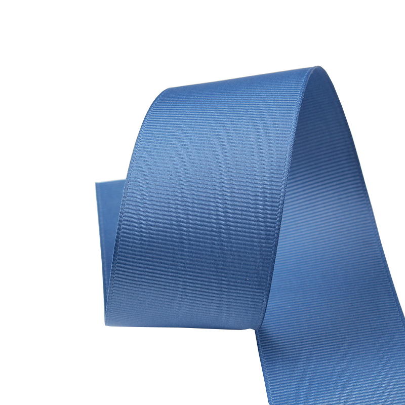 GR1-038  Factory manufacture solid color polyester grosgrain ribbon for gift packing