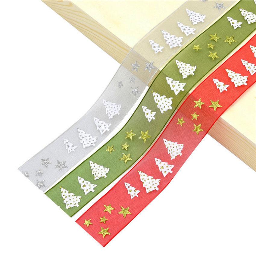 PR-025 wholesale Christmas decorative organza ribbon
