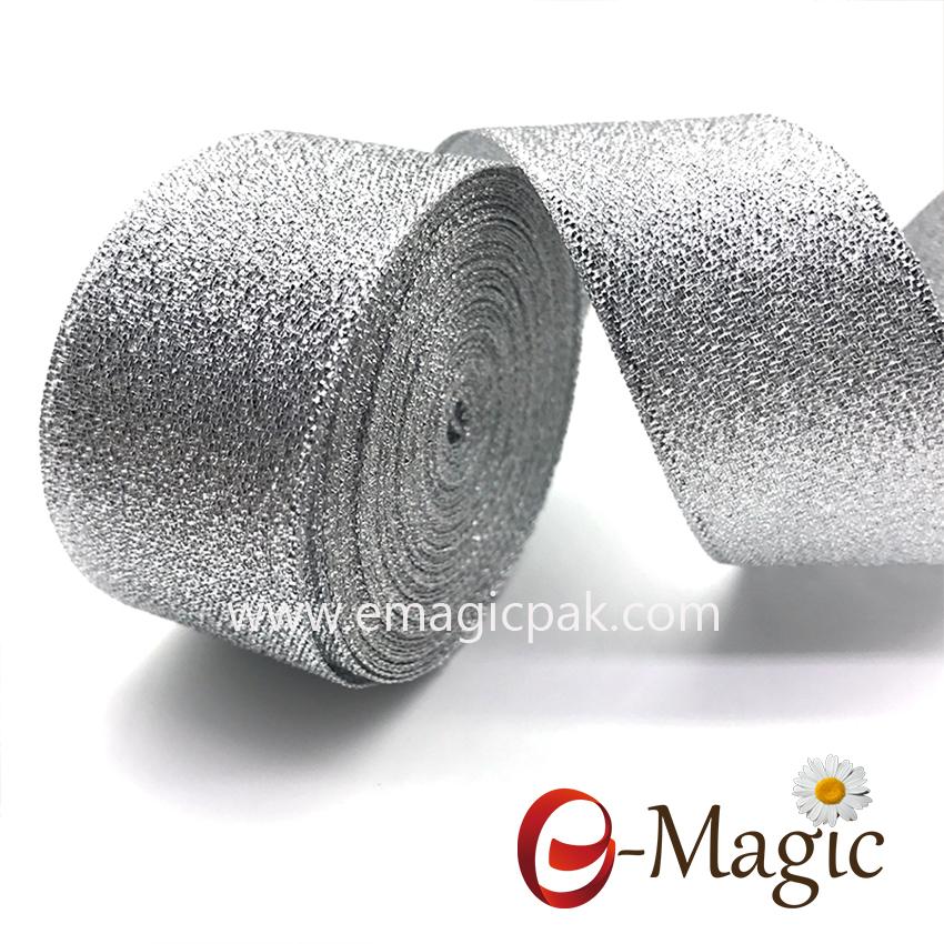 Lurex-003    Lurex Christmas Metallic Ribbon Silver