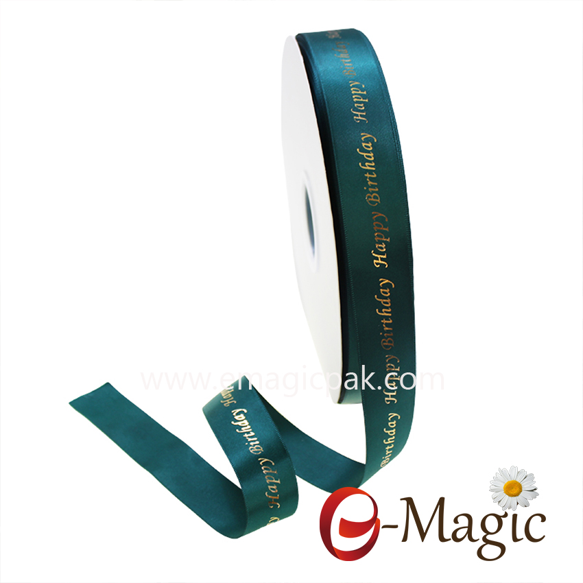 Wholesale Custom Logo Printed Double Face Satin Ribbon
