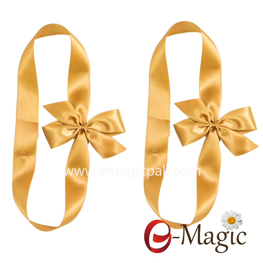 PB-091    Wholesale pre tied ribbon bow with elastic loop