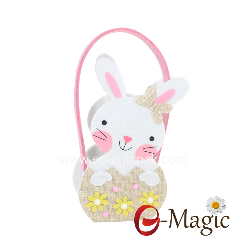 FC-03 Custom felt easter bucket with handle